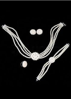 Romantic Rhinestone Pearl Alloy Wedding Jewelry Set - Wedding Jewelry - Accessories