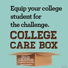 """Equip your college student for the challenge. """"Instruct the wise and they will be wiser still; teach the righteous and they will add to their learning."""" –Proverbs 9:9. NIV"""