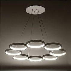 (EU Lager)Led Pendelleuchte Ring Design Weiß 8-Flammig