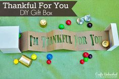 Thankful For You Gift Box - Show you care with this Thanksgiving craft idea. It's a 3D card that's sure to make an impression.