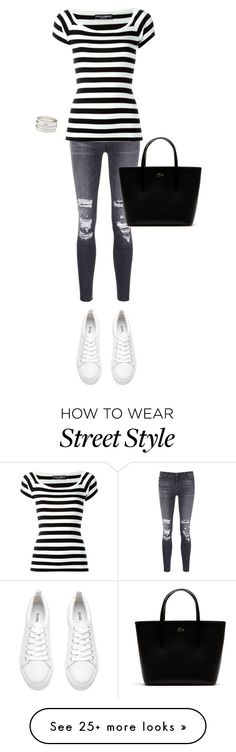 """""""Street style"""" by ines-lynch on Polyvore featuring J Brand, Dolce&Gabbana, Lacoste and Charlotte Russe"""