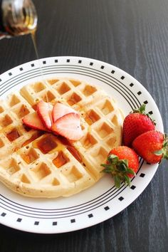 Eggless Waffle Recipe - Vegan Waffles (very plain so I added cinnamon and vanilla) #vegan #breakfast