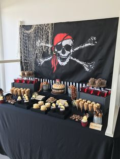 Looking for buried treasure are ye? If so, check out this awesome Pirate Birthday Party at Kara's Party Ideas! Decoration Pirate, Pirate Party Decorations, Deco Pirate, Pirate Theme, Wild One Birthday Party, 6th Birthday Parties, Birthday Ideas, Safari Party, Teenager Party