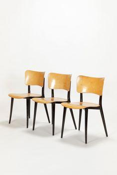 Set of 3 Max Bill Chairs Horgen-Glarus 1957