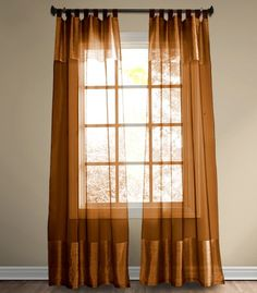 Single Panel Silk Curtain (Copper)