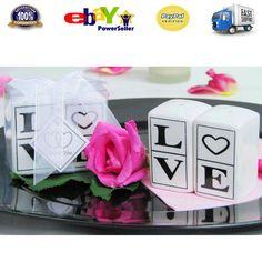 10 Wedding Bomboniere Favours Ceramic Salt and Pepper Shaker Set Love Favor Gift