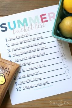Summer can be crazy. Get intentional with this FREE summer bucket list printable. Do exactly what you want to do and have fun!!