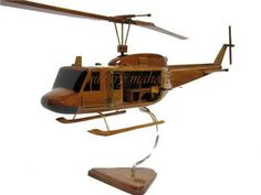 Bell UH-1 Huey Vietnam Era Iroquois Helicopter Door Guns Wood Handcrafted Wooden Model Christmas Gift by MilitaryMahogany on Etsy