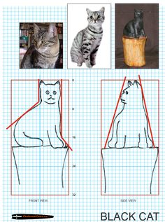 Chainsaw Carving pattern free cat