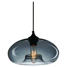 1-light steel pendant with a smooth glass shade.   Product: PendantConstruction Material: Steel and glass