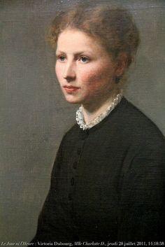 : Victoria Dubourg (Mme Henri Fantin-Latour), 1840-1926, portrait, 1870, de Mlle Charlotte Dubourg (sœur de l'artist...