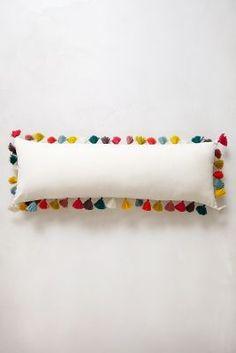 firenze velvet tassel pillow, anthropologie