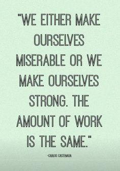 Make ourselves STRONG!!