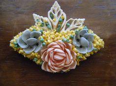 Vintage Pastel Shell Brooch by broochonmyback59 on Etsy, $12.00