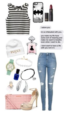 """""""Mhm"""" by enniahxox ❤ liked on Polyvore featuring Topshop, MICHAEL Michael Kors, Menbur, Bling Jewelry, Alex and Ani, Zoya, Casetify, Lipstick Queen and Michele"""