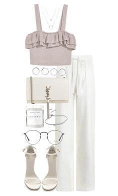 """Untitled #4184"" by theeuropeancloset on Polyvore featuring Zimmermann, Boohoo, Yves Saint Laurent, Stuart Weitzman, Ray-Ban, Herbivore and Monica Vinader"