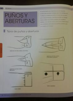Puños y aberturas. La biblia de la costura. Couture, Fashion Details, Patches, Sewing, Pattern, Sleeves, How To Make, Templates, Sewing Lessons