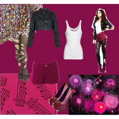 Cher Lloyd by sarybets on Polyvore featuring polyvore fashion style James Perse AllSaints Warehouse Rubie's Costume Co. Viva Bordello Music Notes