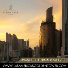Hotel Las Américas Golden Tower Panamá se fusiona con el atardecer reflejando su brillo único.  Hotel Las Américas Golden Tower Panamá merges with the sunset reflecting its unique glow.  #LasAméricasGoldenTowerPanamá #Economía #Rentabilidad #Tendencias #Inversión #IconoDeDiseño #Moderno #Arquitectura #HotelPanamá #Panamá