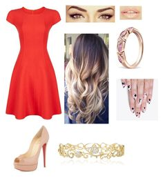"""Sara aniversário"" by kymberlly ❤ liked on Polyvore featuring Armani Collezioni, Christian Louboutin, Effy Jewelry, alfa.K, women's clothing, women's fashion, women, female, woman and misses"