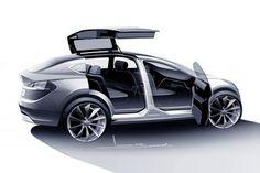 Sketch d'étude du Model X.