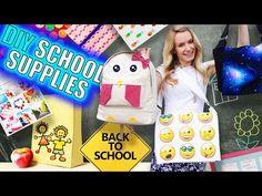 DIY School Supplies & Room Organization Ideas! 15 Epic DIY Projects for Back…