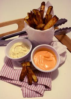 Two Kids Cooking Recipe: Belgian Frites with Dijon Aioli or Spicy Aioli
