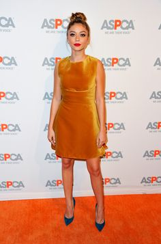 Sarah Hyland wearing ANOUK to the ASPCA event benefit in Los Angeles.