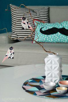 luzia pimpinella     handmade geo placemats [tutorial in german & english] #DIY #sewing