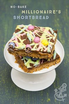 No-Bake Millionaire's Shortbread with Leftover Easter Eggs