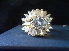 3.75CTW LCS* DIAMOND ENGAGEMENT WEDDING RING GUARD SET SZ 6 + GIFT