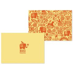 Circus Note Cards 10 Pack  by Running Rhino    http://fab.com/sale/4672/product/105835/