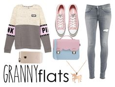 """""""granny flats"""" by flore-dxlix ❤ liked on Polyvore featuring Dondup, Converse, La Cartella, Incase, Louche, women's clothing, women's fashion, women, female and woman"""