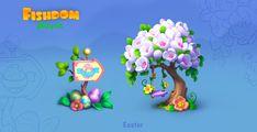 ArtStation - Easter event, Lorian_ de_Villia Mobile Game, Game Art, Easter, Artwork, Work Of Art, Playroom Art