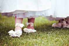 Flower girls' shoes. From @Style Me Pretty.