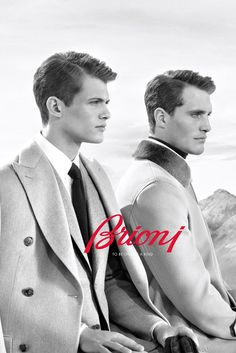 Italian label Brioni taps models Julien Nielsen and Ollie Edwards for its Fall/Winter 2013 campaign, photographed by Collier Schorr.