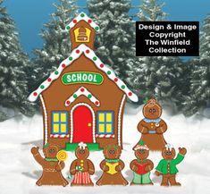 Gingerbread School House Woodcraft Pattern