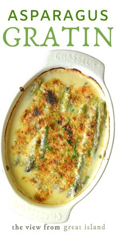This Asparagus Gratin is a luxurious comforting side dish with a decidedly French accent! Make it part of a fancy spring feast, or a quiet dinner for two. dinner for two Asparagus Gratin Easy Asparagus Recipes, Fun Easy Recipes, Vegetable Recipes, Easy Meals, Baked Asparagus, Fancy Recipes, Chicken Asparagus, Vegetable Sides, Vegetable Side Dishes