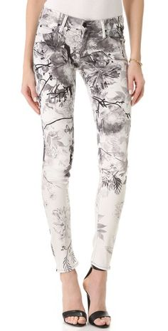 MOTHER The Pocket Full of Posies Looker Skinny Jeans