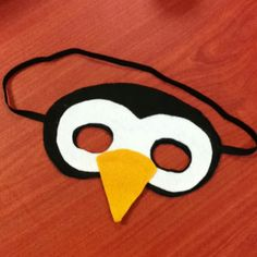 #DIY #Penguin Mask for kids! Inspired by etsy. #craft @Ashley Walters Walters Walters Walters Walters Forbes