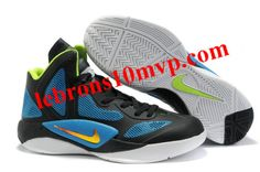 Nike Zoom Hyperfuse 2011 Shoes Black/Blue/White/Neon Yellow