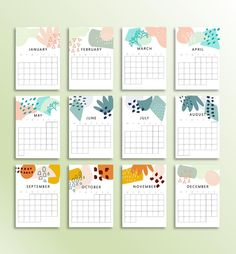 NEW 2020 AND 2021 Calendar Printable Monthly Planner Inserts | Etsy