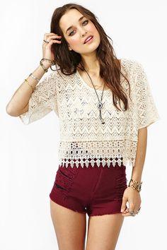 Crochet Top and Shorts l wantering.com