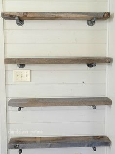 Easy Affordable Diy Wood Closet Shelves Ideas – Decorating Ideas - Home Decor Ideas and Tips Industrial Farmhouse Decor, Industrial Pipe Shelves, Pipe Shelving, Shelves With Pipes, Pantry Shelving, Galvanized Pipe Shelves, Metal Pipe Shelves, Farmhouse Shelving, Rustic Shelving