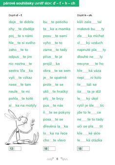 41 Nejlepsich Obrazku Z Nastenky Parove Souhlasky Montessori