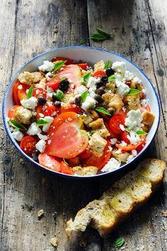 Mais pourquoi est-ce que je vous raconte ça... Dorian cuisine.com: Pain d'été et salade… d'été ! Parce que c'est l'été bordel !!!