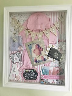 Infant shadow box GIRL