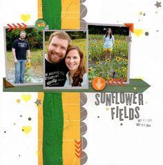 sunflower fields (clique kits) by kraftykat9 at @studio_calico