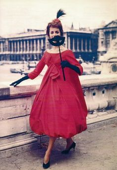 Yves St. Laurent after Christian Dior, late 1950s bouffant dress.