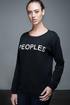 Anita Print Sweater   People's Avenue #print #sweater #black #peoples